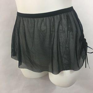 Capezio Harmonie pull-on dance skirt blk SM MD/LG
